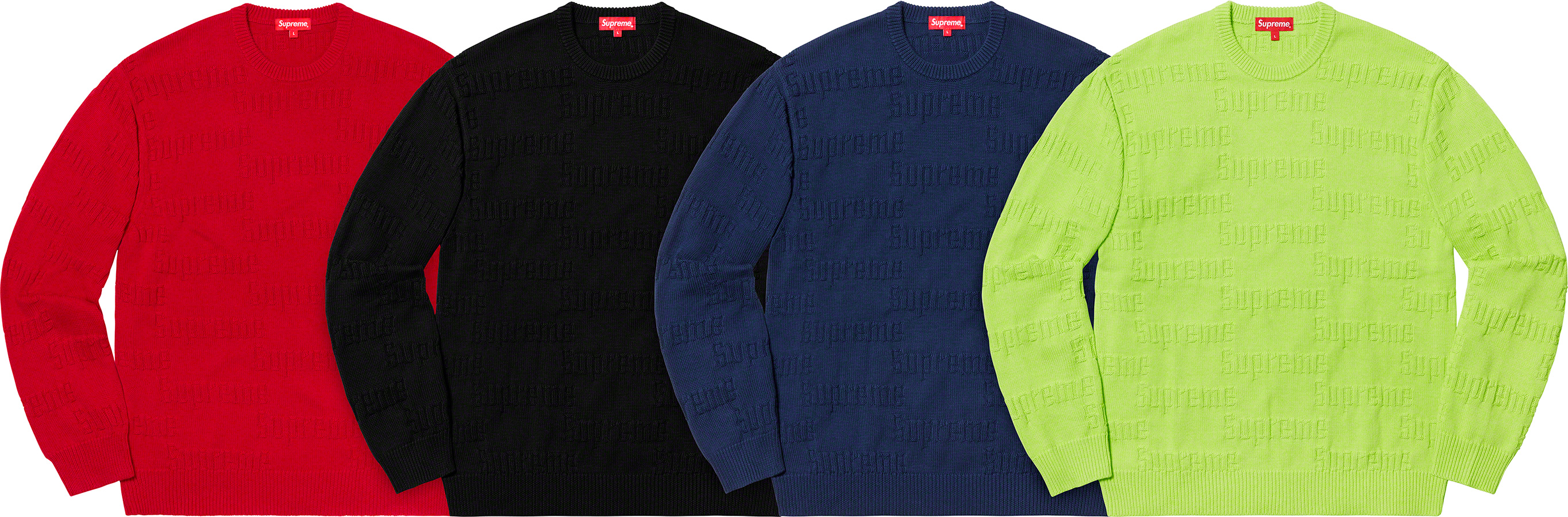 supreme-19aw-19fw-fall-winter-raised-logo-sweater