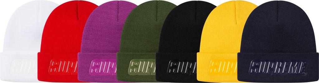 supreme-19aw-19fw-fall-winter-raised-patent-logo-beanie