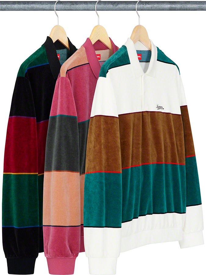 supreme-19aw-19fw-fall-winter-stripe-velour-l-s-polo