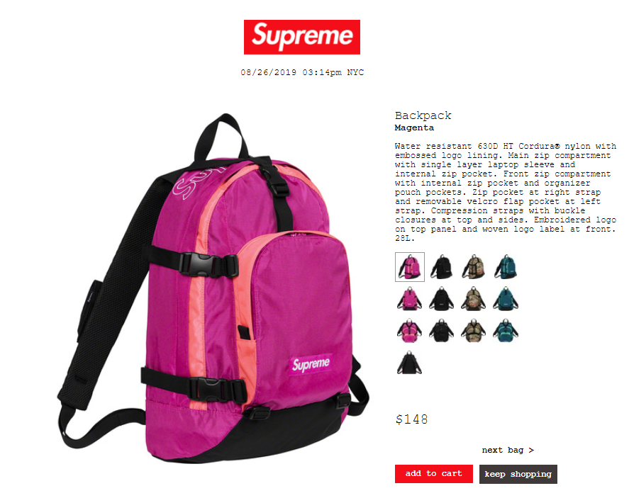supreme-19aw-19fw-launch-20190824-week1-release-items-bags