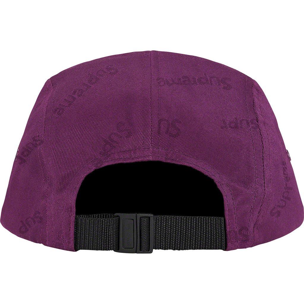 supreme-19aw-19fw-fall-winter-jacquard-logos-twill-camp-cap
