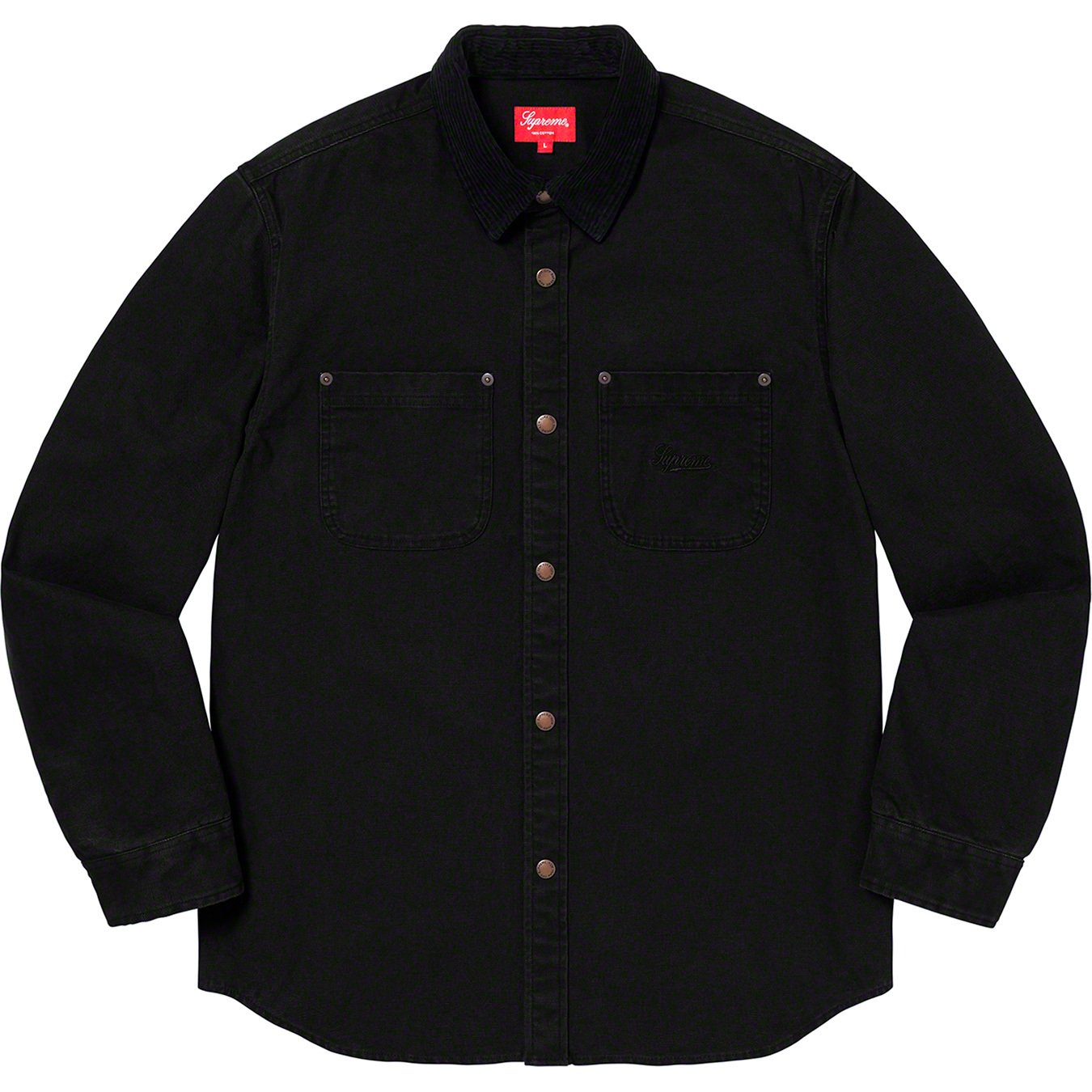 supreme-19aw-19fw-fall-winter-script-canvas-snap-shirt