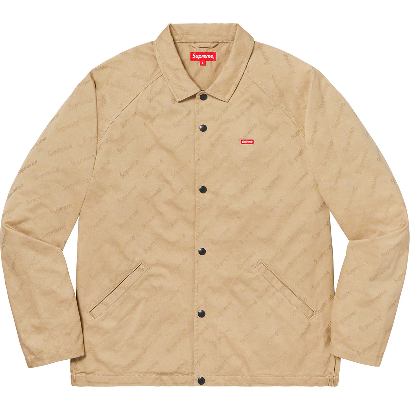 supreme-19aw-19fw-fall-winter-snap-front-jacquard-logos-twill-jacket