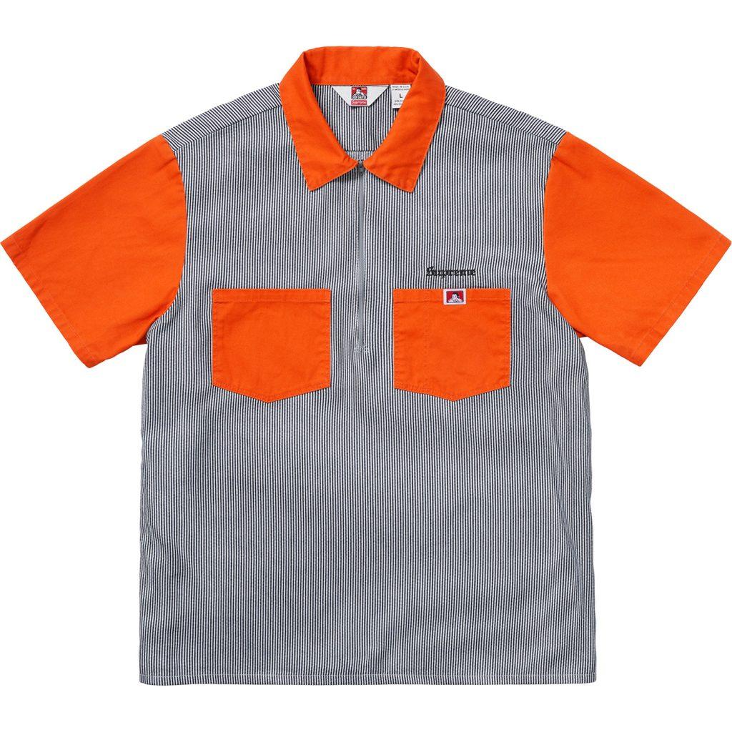 supreme-ben-davis-19aw-19fw-collaboration-release-20190914-week3-half-zip-work-shirt