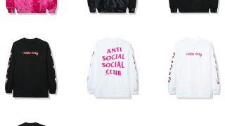 HELLO KITTY × ANTI SOCIAL SOCIAL CLUB 2019コラボアイテムが11/16に発売予定