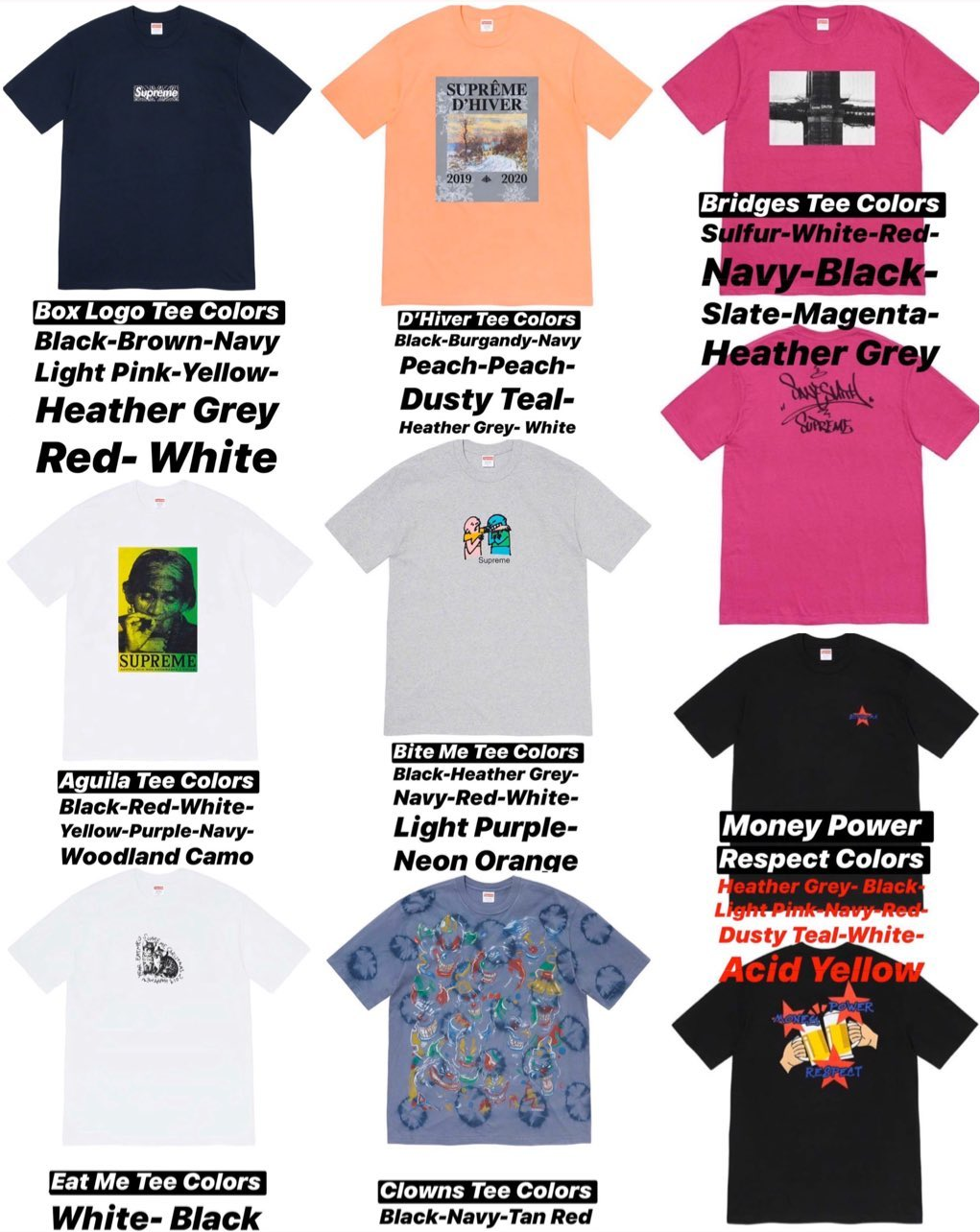 supreme-online-store-19aw-19fw-20191221-week17-release-items-winter-tee-colorway