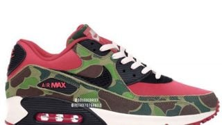 atmos × NIKE AIR MAX 90 REVERSE DUCK HUNTER CAMOが3/26頃に国内発売予定