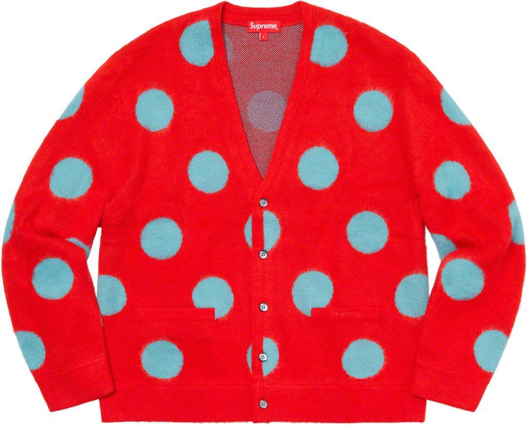supreme-20ss-spring-summer-brushed-polka-dot-cardigan