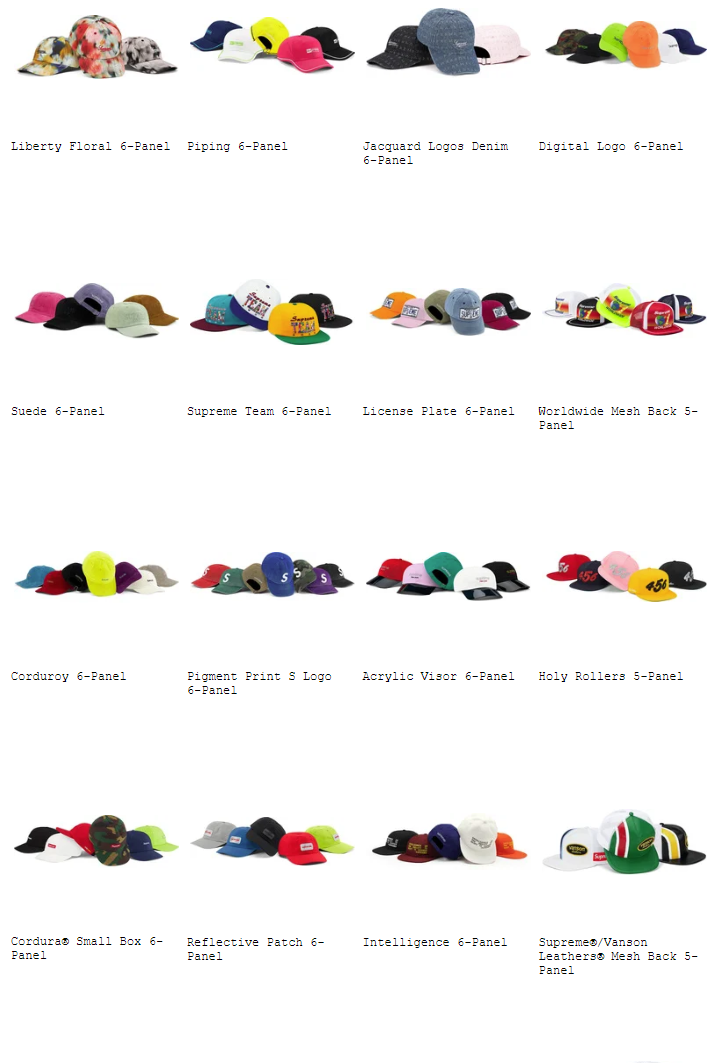 supreme-20ss-spring-summer-collection-caps