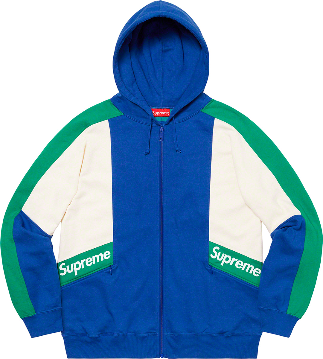 supreme-20ss-spring-summer-color-blocked-zip-up-hooded-sweatshirt