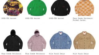 Supreme 20SS コレクションのジャケット一覧ページ