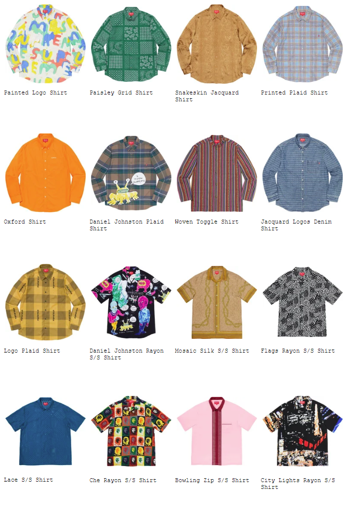 supreme-20ss-spring-summer-shirts