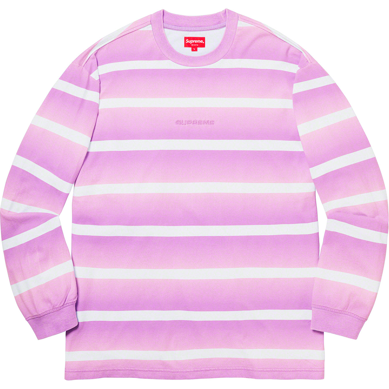 supreme-20ss-spring-summer-fade-stripe-l-s-top