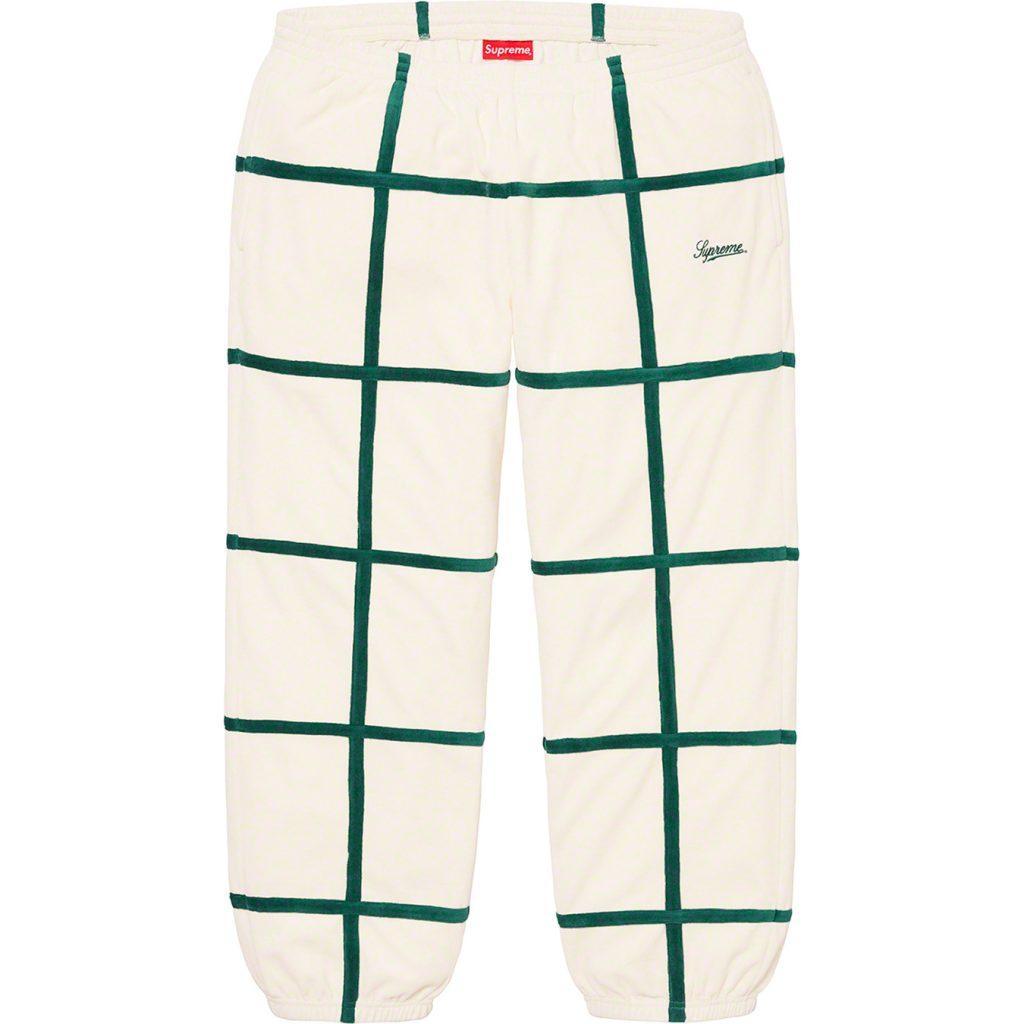 supreme-20ss-spring-summer-grid-taping-velour-pant