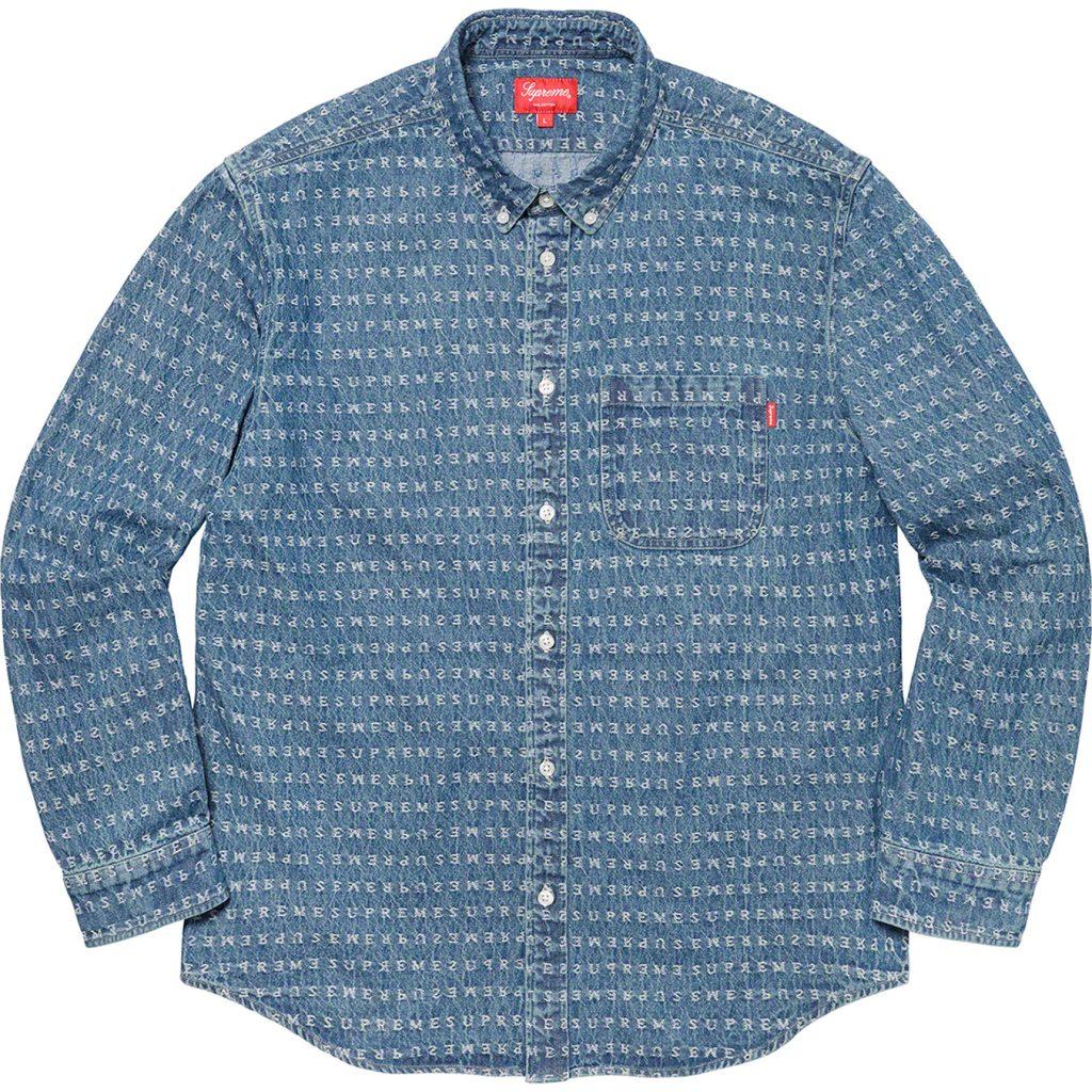 supreme-20ss-spring-summer-jacquard-logos-denim-shirt