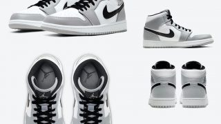 NIKE AIR JORDAN 1 MID LIGHT SMOKE GREYが5/1、5/12、7/11に国内発売予定