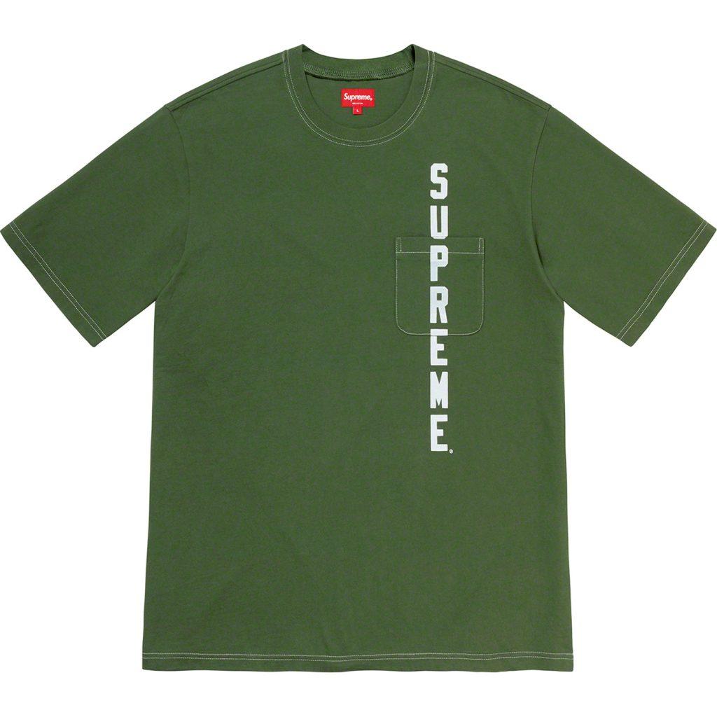 supreme-20ss-spring-summer-contrast-stitch-pocket-tee