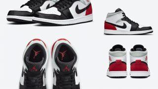 NIKE JORDAN 1 MID SE WHITE BLACK REDが7/11に国内発売予定