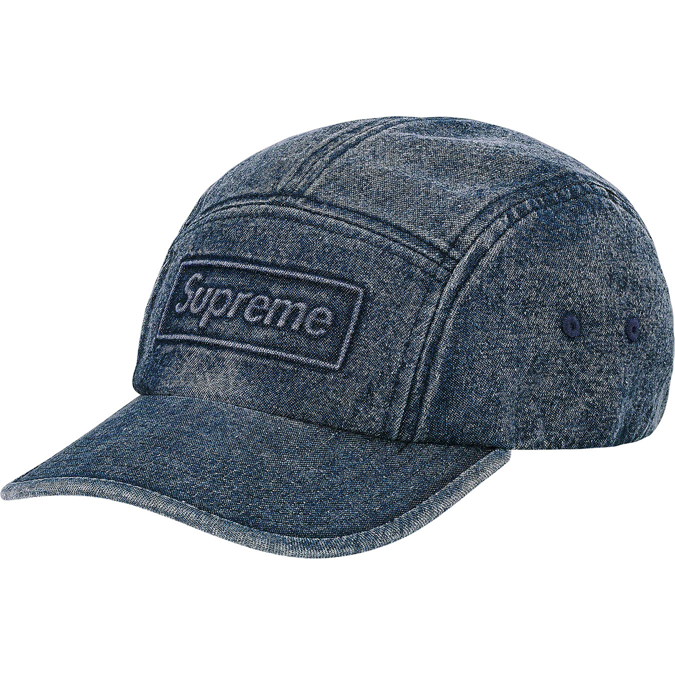 supreme-20ss-spring-summer-embossed-denim-camp-cap