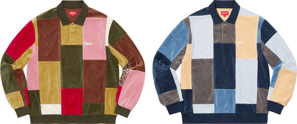 supreme-20aw-20fw-patchwork-velour-l-s-polo