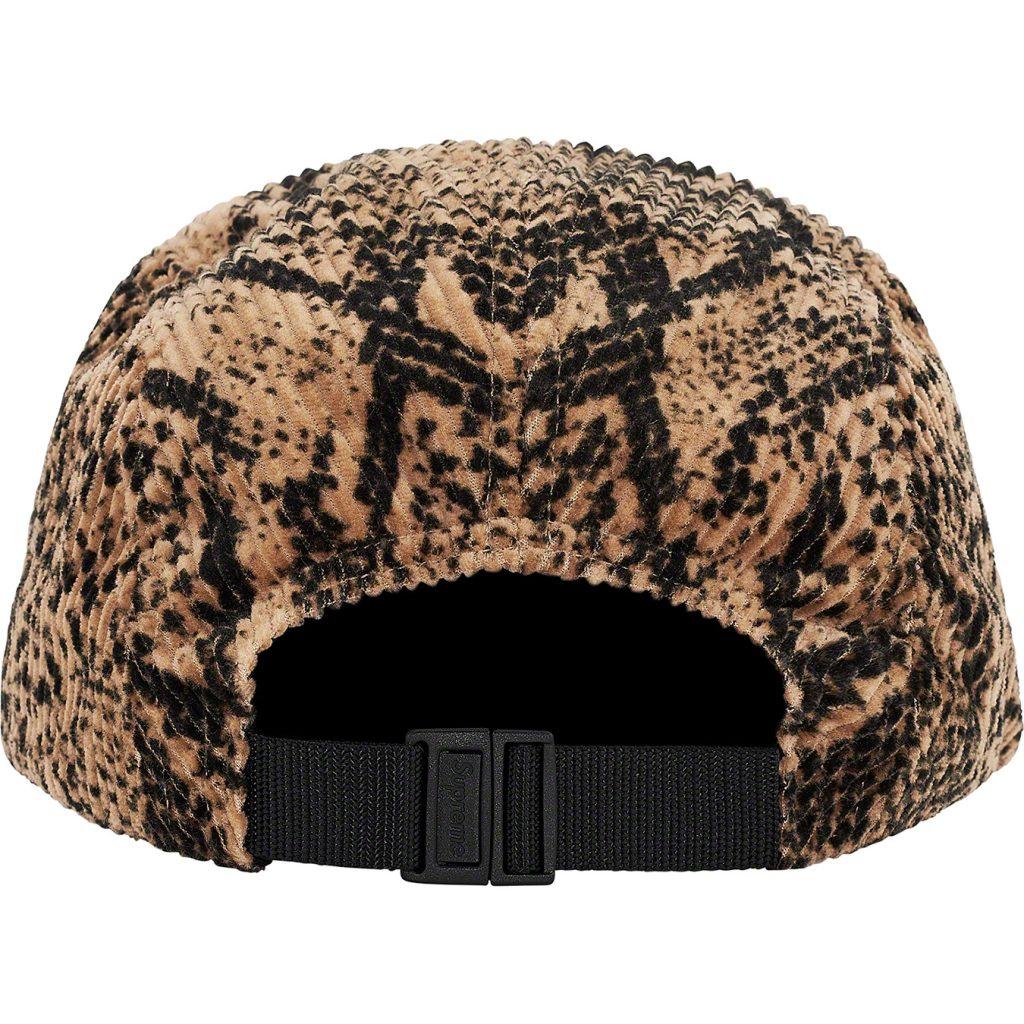 supreme-20aw-20fw-snakeskin-corduroy-camp-cap