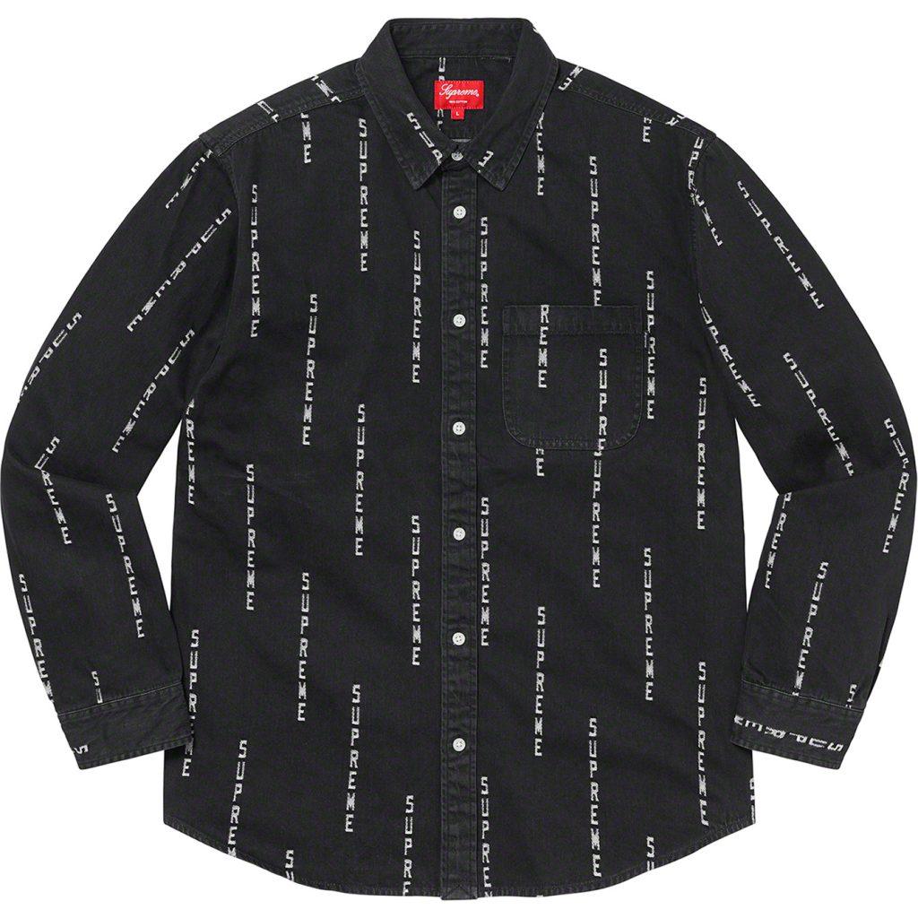 supreme-20aw-20fw-logo-stripe-jacquard-denim-shirt