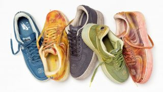 STUSSY × NIKE HAND DYED AIR FORCE 1、コラボアパレルが1/29に海外発売予定