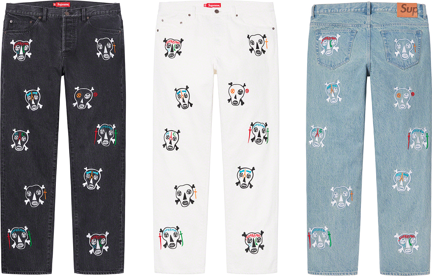 supreme-21ss-spring-summer-clayton-patterson-skulls-embroidered-regular-jean