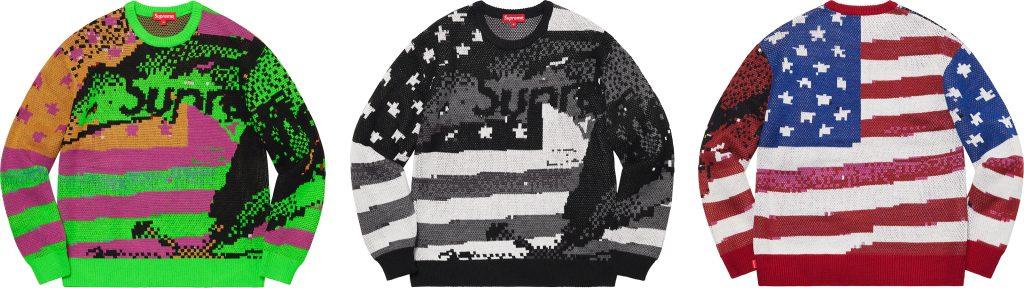 supreme-21ss-spring-summer-digital-flag-sweater