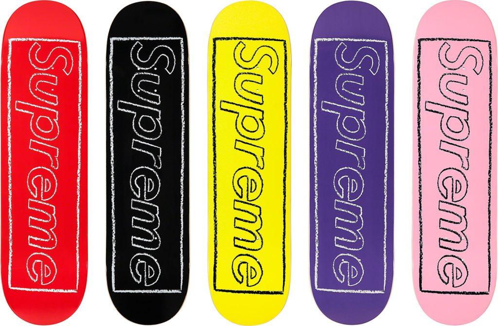 supreme-21ss-spring-summer-kaws-chalk-logo-skateboard