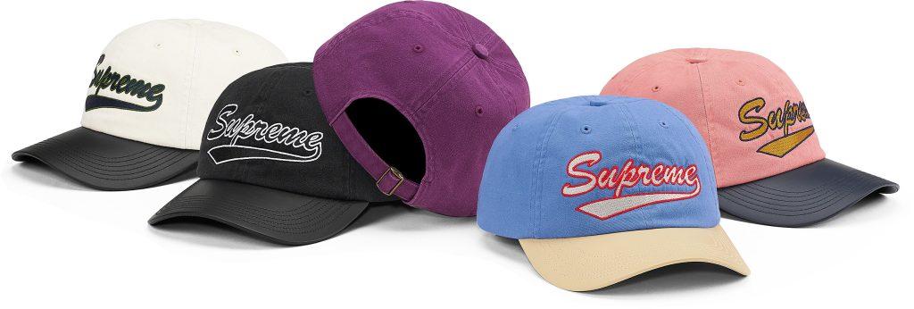 supreme-21ss-spring-summer-leather-visor-6-panel
