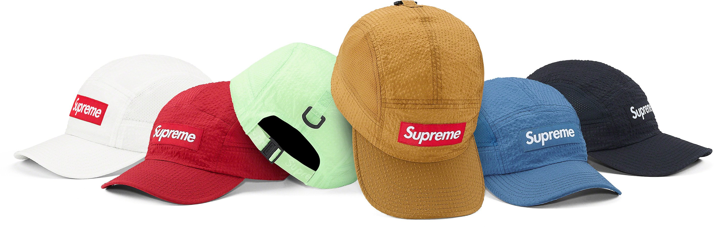 supreme-21ss-spring-summer-mesh-seersucker-camp-cap