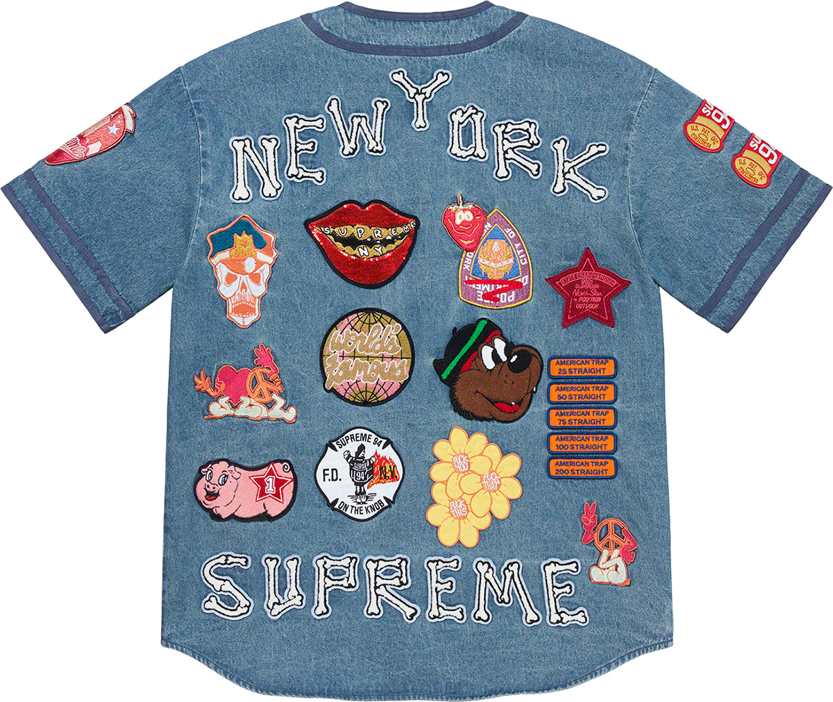 supreme-21ss-spring-summer-patches-denim-baseball-jersey