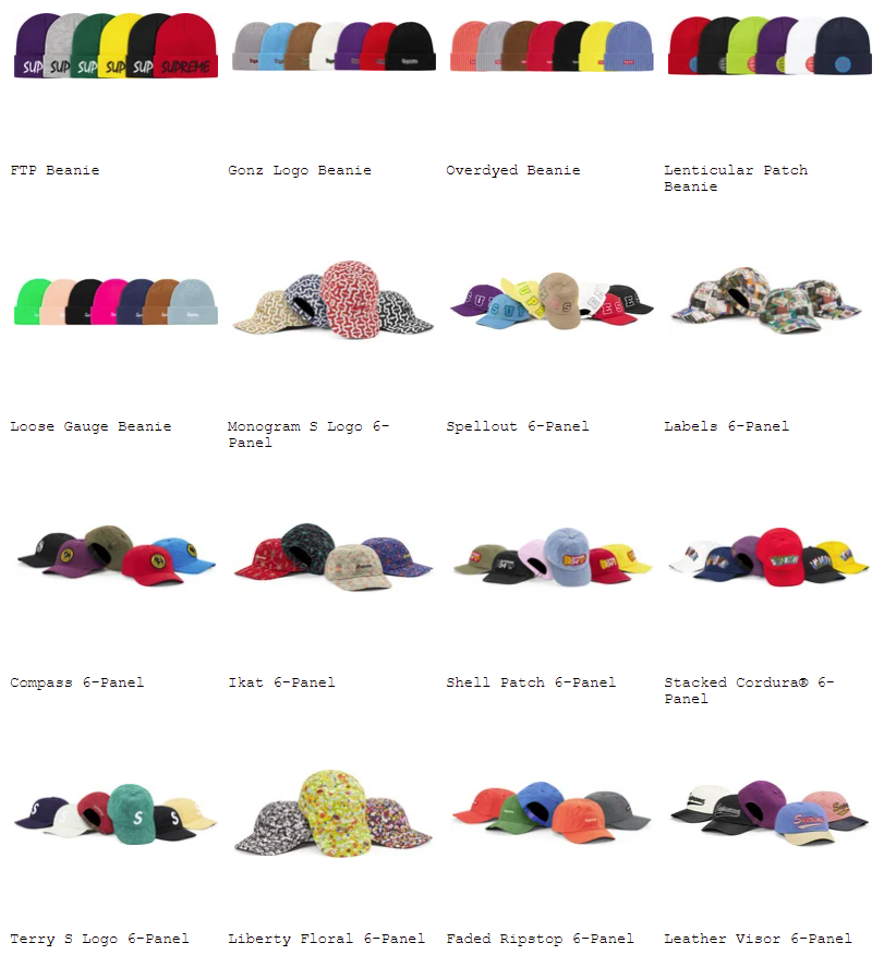 supreme-21ss-spring-summer-preview-cap