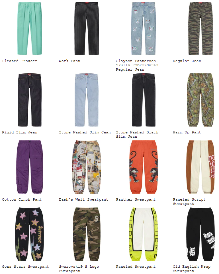 supreme-21ss-spring-summer-preview-pant-short