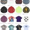 Supreme 21SS コレクションのシャツ一覧ページ