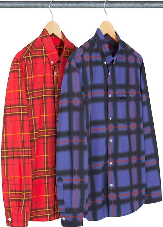 supreme-21ss-spring-summer-spray-tartan-shirt