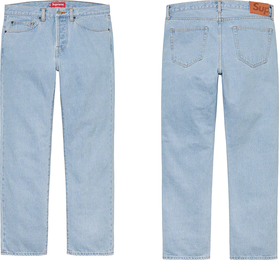 supreme-21ss-spring-summer-stone-washed-slim-jean