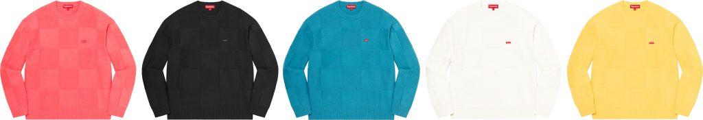 supreme-21ss-spring-summer-tonal-checkerboard-small-box-sweater