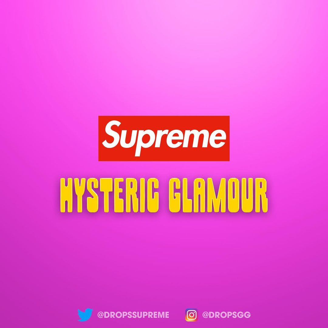 supreme-hysteric-glamour-21ss-collaboration-collection-release-2021