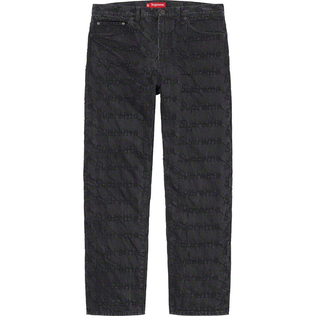 supreme-21ss-spring-summer-frayed-logos-regular-jean