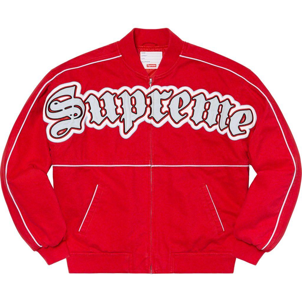 supreme-21ss-spring-summer-twill-old-english-varsity-jacket