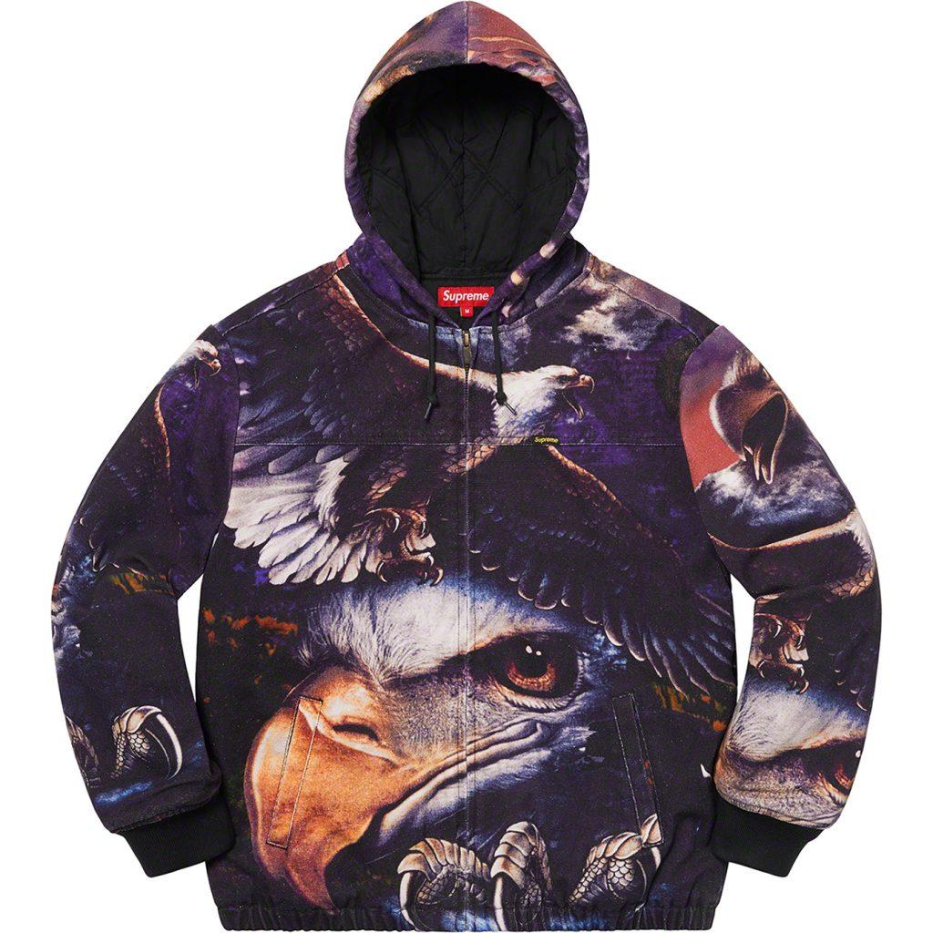 supreme-21ss-spring-summer-eagle-hooded-work-jacket