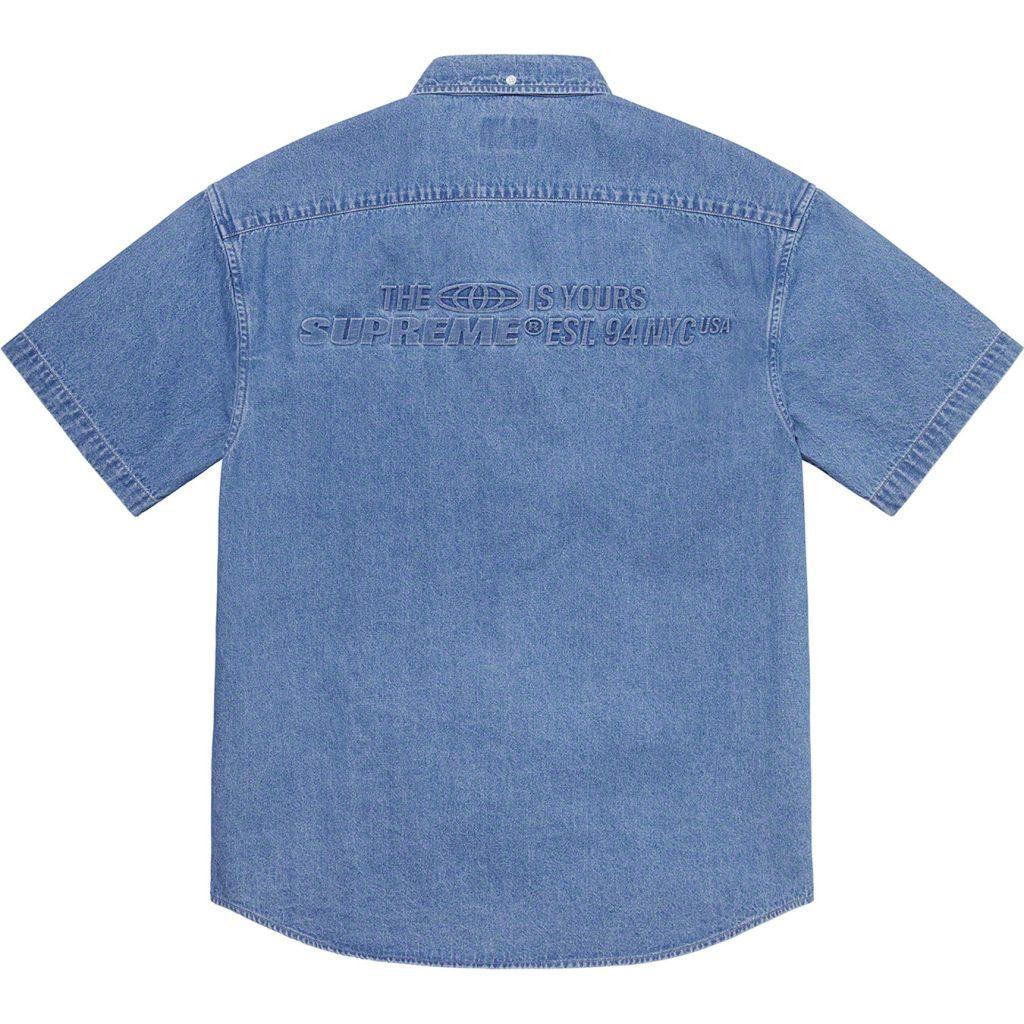 supreme-21ss-spring-summer-embossed-denim-s-s-shirt