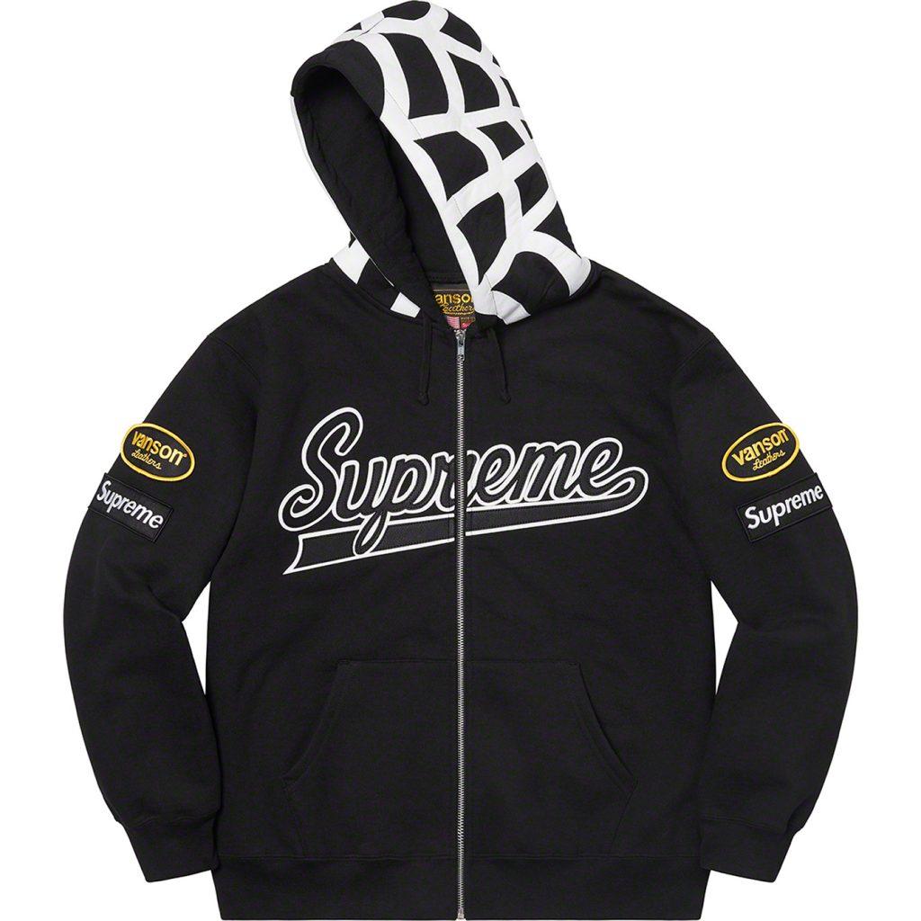 supreme-21ss-spring-summer-supreme-vanson-leathers-spider-web-zip-up-hooded-sweatshirt