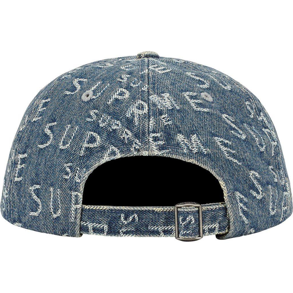 supreme-21ss-spring-summer-warp-jacquard-logos-denim-6-panel