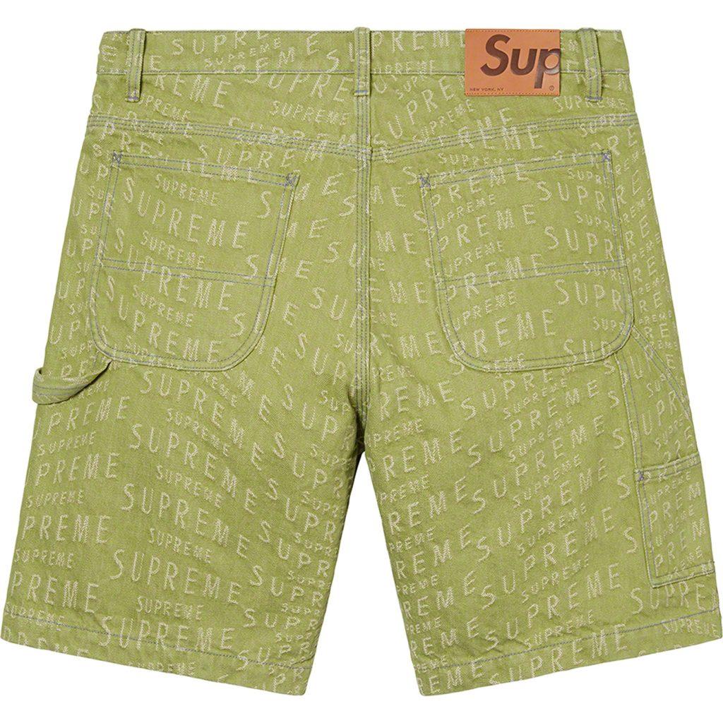 supreme-21ss-spring-summer-warp-jacquard-logos-denim-painter-short
