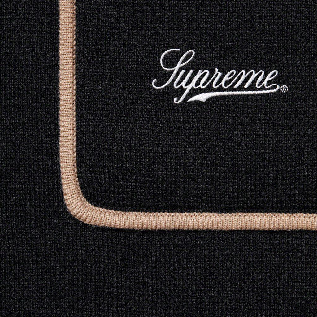 supreme-21aw-21fw-chest-stripe-zip-up-cardigan