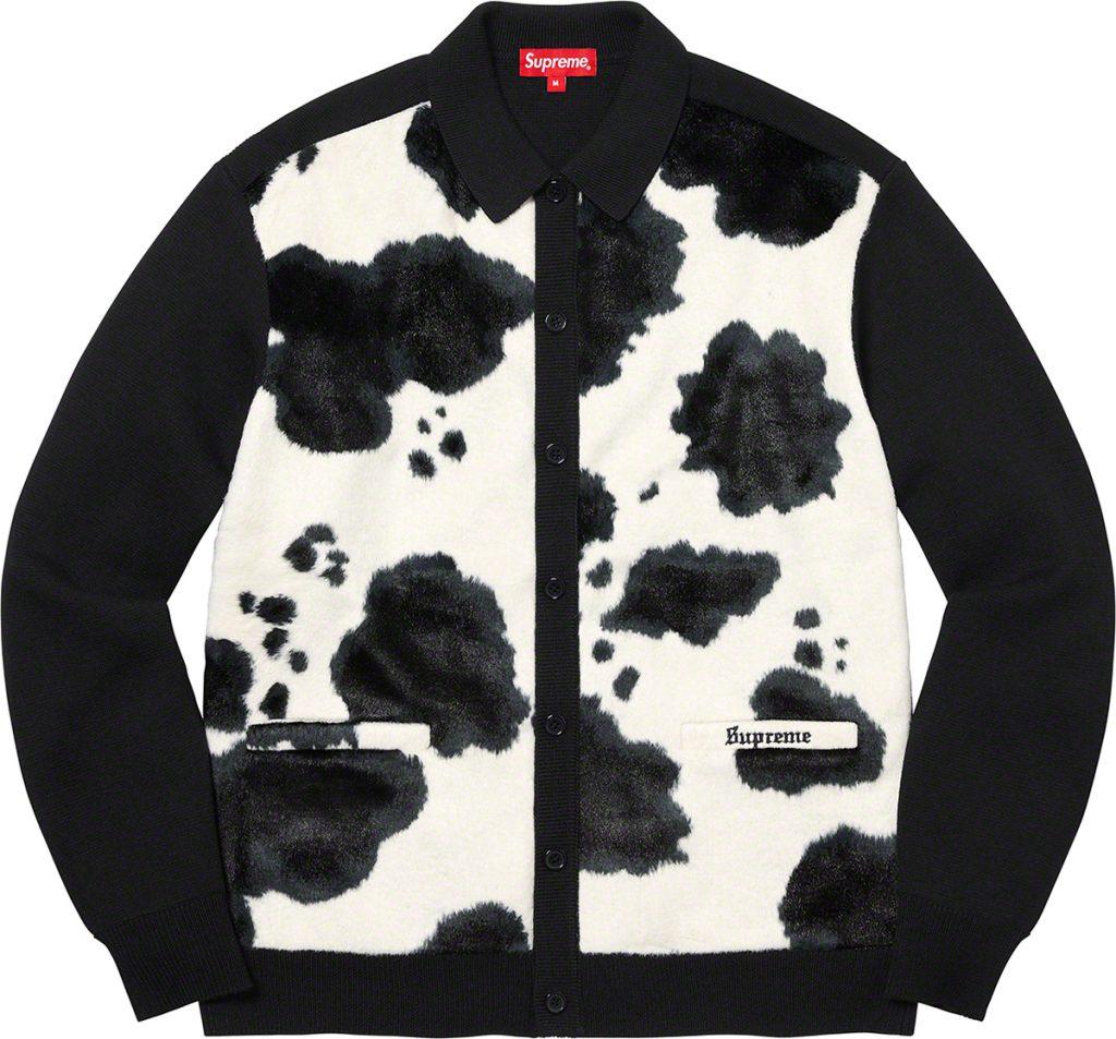 supreme-21aw-21fw-cow-print-cardigan