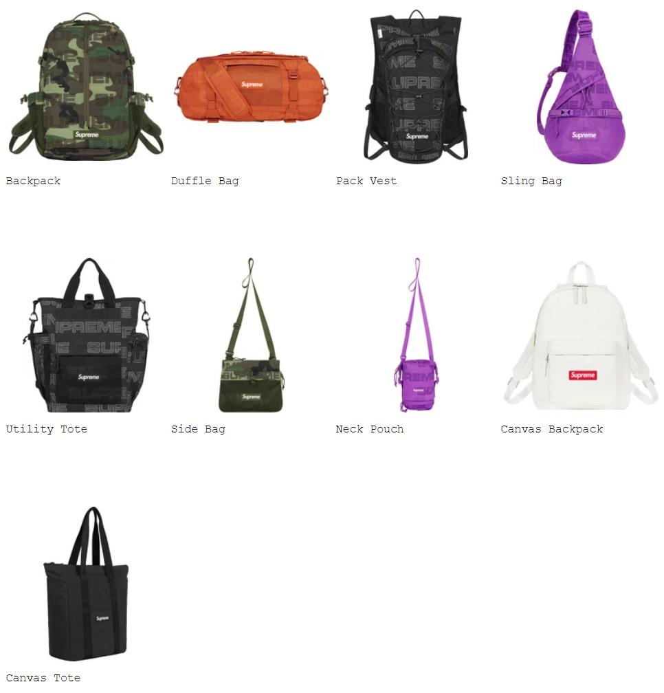 supreme-21aw-21fw-fall-winter-bags